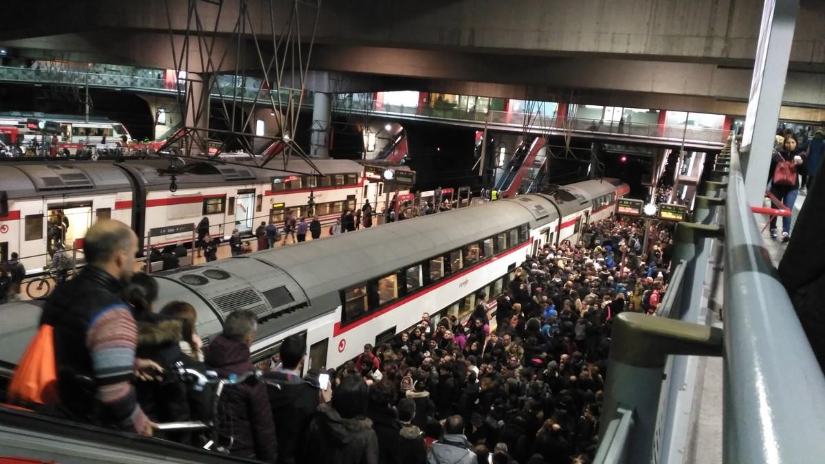 Imagen del Cercanías de Atocha (Madrid).