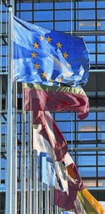 Banderas en el Europarlamento.