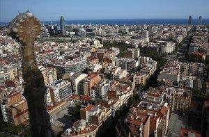 Vista de Barcelona desde la Sagrada Família.