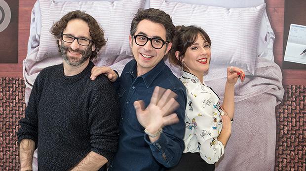 Berto Romero, Eva Ugarte y Carlos Therón, presentan la sèrie 'Mira lo que has hecho'.