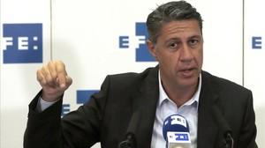 El candidato del PPC al 27-S, Xavier García Albiol, este lunes, 21 de septiembre, en la agencia Efe.