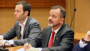 Carles Garcias (izquierda) y Alfred Bosch, exjefe de gabinete y exconseller d'Acció Exterior.