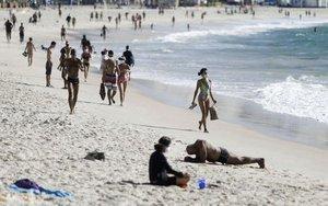 Las playas de Brasil en plena pandemia de COVID-19.