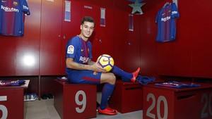 Philippe Coutinho, en el vestuario.