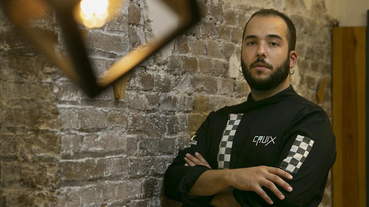 El cocinero Miquel Pardo, en el restaurante Cruix.