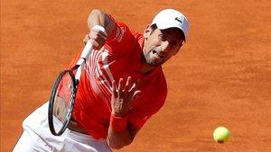 Djokovic, durante el partido contra Thiem.