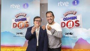 Pablo Pineda y El Langui, compañeros de viaje en 'Donde comen dos'.