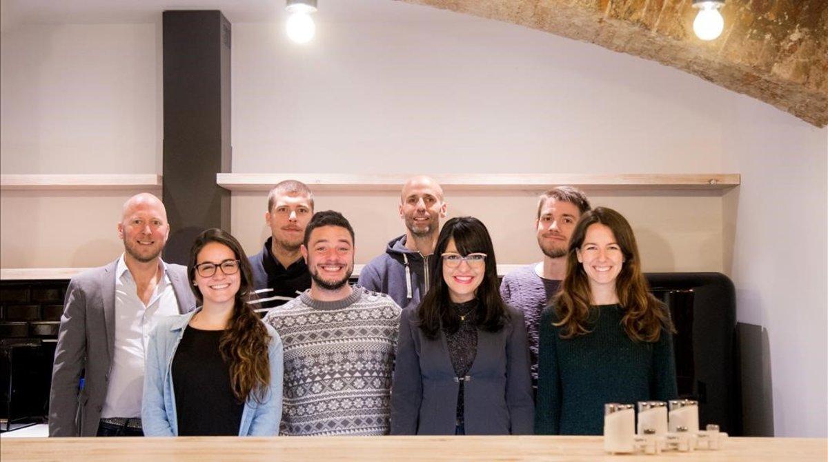 El equipo de la startup Tapp Water.