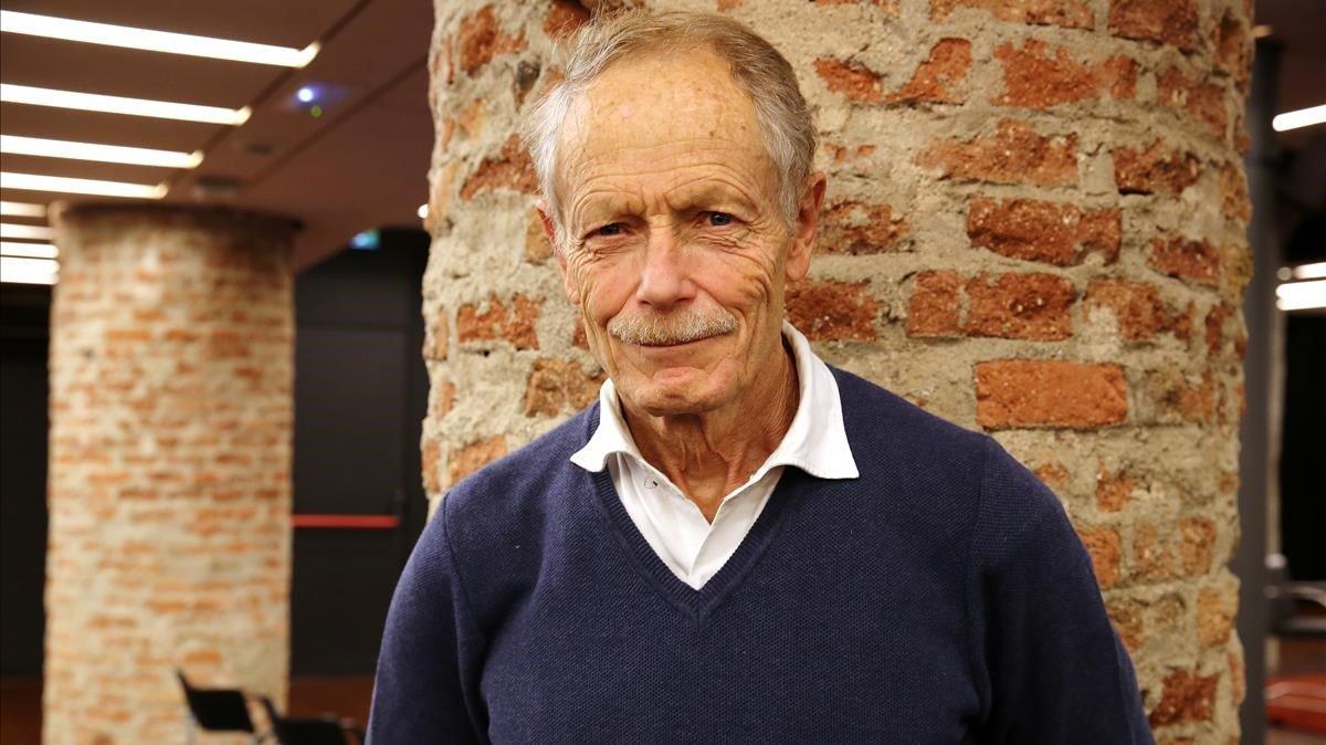 El escritor italiano Erri de Luca, en su última visita a Barcelona.