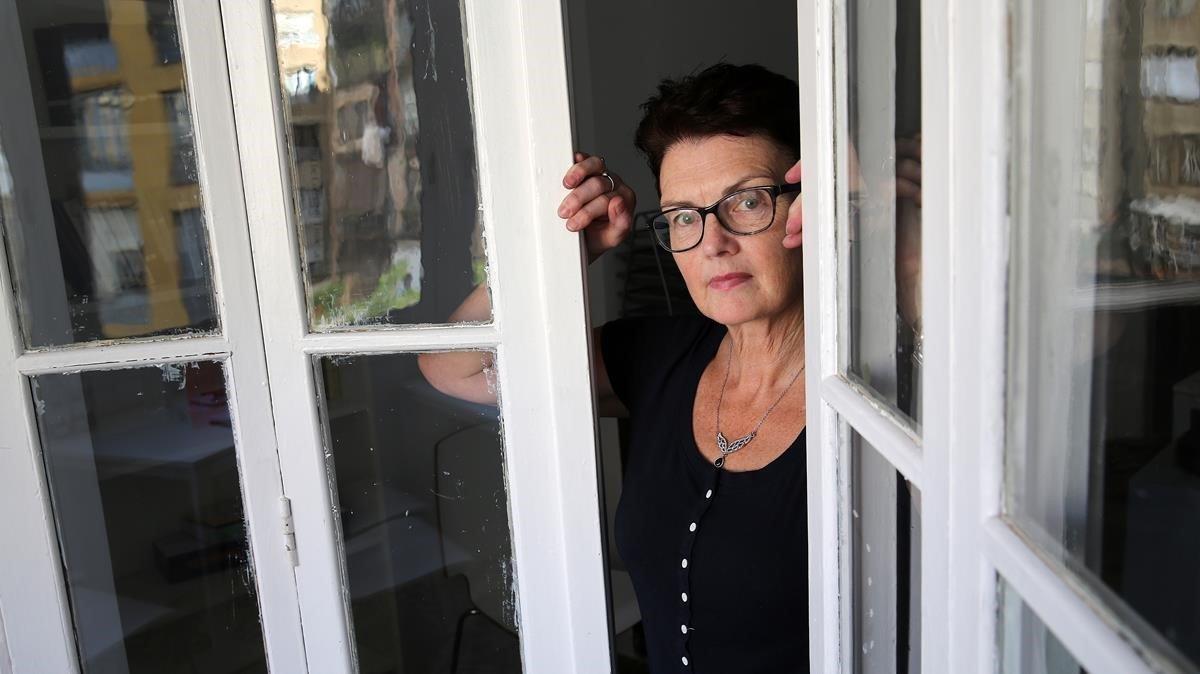 La escritora irlandesa Patricia Gibney, a su paso por Barcelona para presentar 'Los niños desaparecidos'.