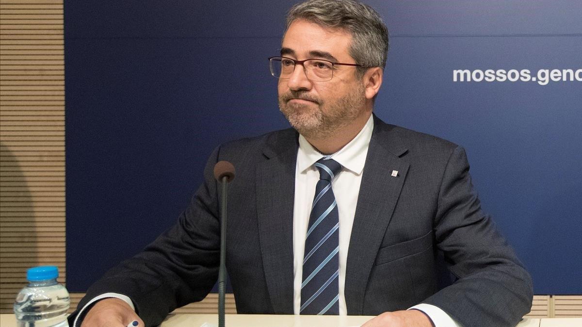 El ya exdirector general de los Mossos, Andreu Joan Martínez.