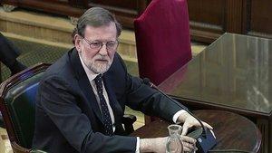 El expresidente del Gobierno, Mariano Rajoy, comparece como testigo en el juicio del procés.