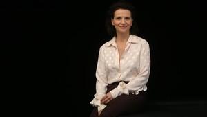 Juliette Binoche, este jueves, en Barcelona.