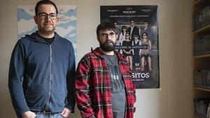 Ferran Herranz y José Tito, fotografiado este lunes en la oficina barcelonesa de La Aventura