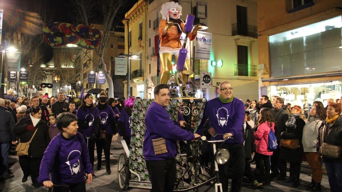 Fotografía de la rúa del Carnaval de Vilanova i la Geltrú, facilitada por el ayuntamiento.