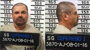 Fotos de Joaquín el Chapo Guzmán tras su ingreso en el penal de alta seguridad del Altiplano (México), el 12 de enero del 2016.