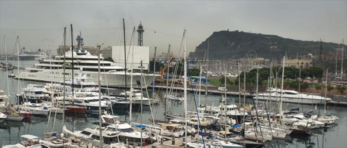 Embarcaciones de recreo en el Port de Barcelona