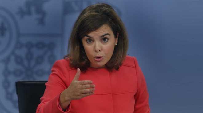 Soraya anuncia que el Govern impugnarà davant el Constitucional la consulta alternativa del 9-N.