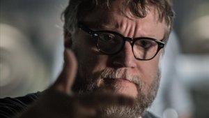 Guillermo del Toro, en el rodaje de La forma del agua