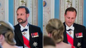 Haakon de Noruega, con y sin barba, en la cena de cumpleaños de sus padres.