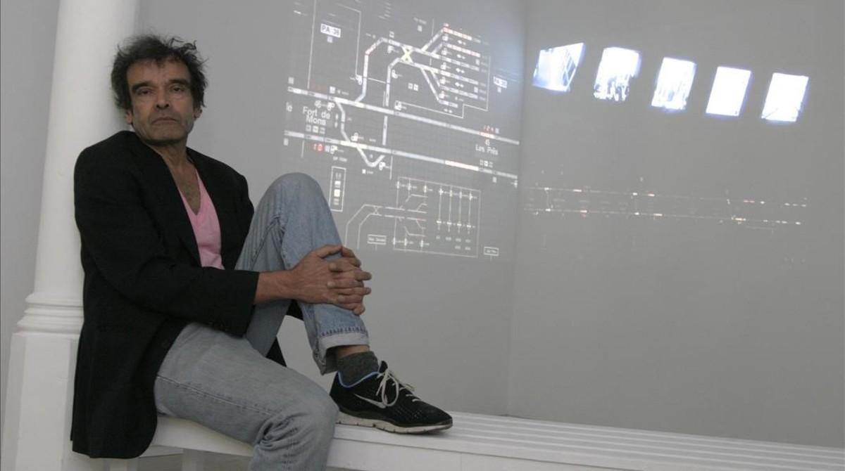 Harun Farocki, en el 2007, en la galería Àngels Barcelona, durante una visita a la capital catalana.
