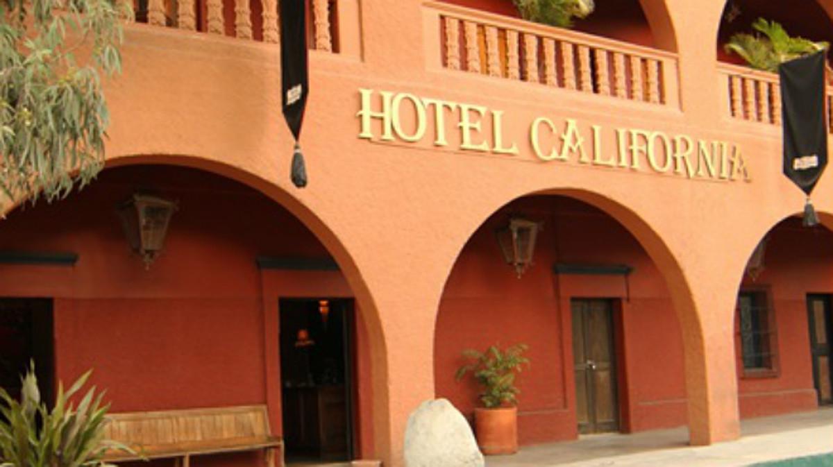 Hotel California de Todos Santos, en Baja California.