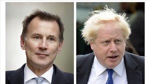 Los dos finalistas para liderar el Partido Conservador, Jeremy Hunt (izq) y Borins Johnson.