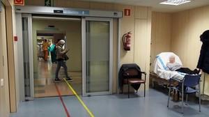 Pacientes en el Hospital del Vall dHebron.