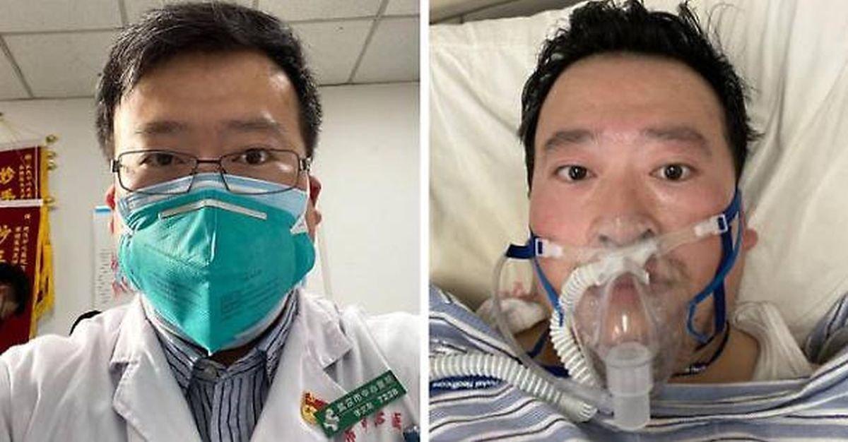 El fallecido médico Li Wenliang que denunció el coronavirus y fue amonestado.