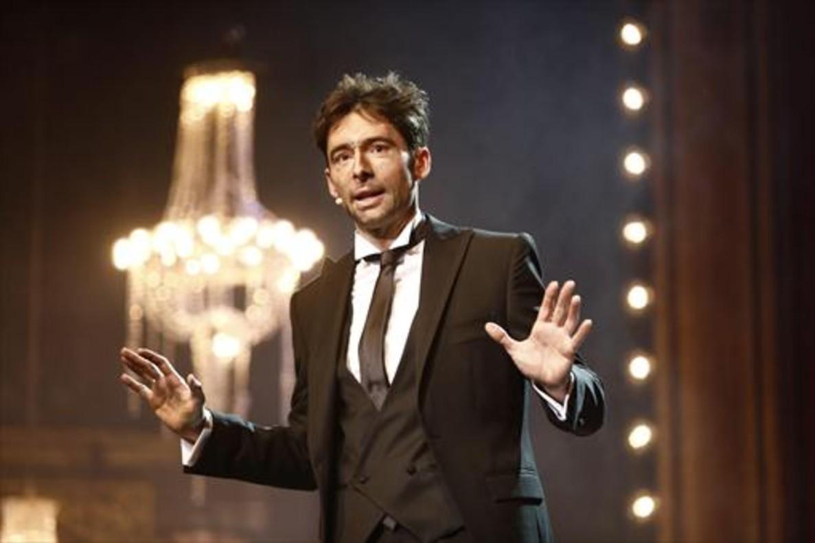 Bruno Oro, el presentador de la gala, en una de sus intervenciones.