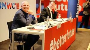 John Hoffman y Michael OHara durante la presentación del Mobile.