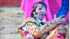 José Padilla tras la cogida.