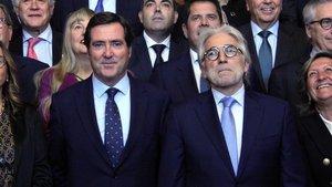 Antonio Garamendi y Josep Sánchez Llibre en la sede de Foment del Treball.