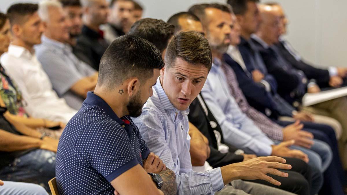El juez absuelve a los jugadores del Zaragoza y Levante. En la foto, una imagen del macrojuicio.
