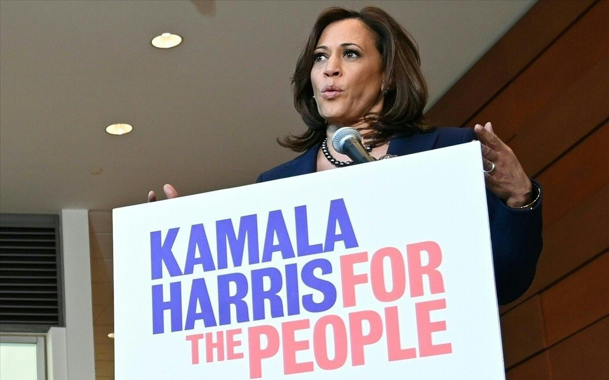 Kamala Harris, senadora por California que aspira a convertirse en candidata por el Partido Demócrata.