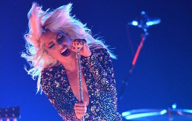 Lady Gaga, durante su actuación en la gala de los Grammy.
