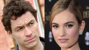 Lily James y Dominic West.