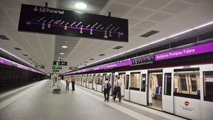Línea de Metro en la que tuvo lugar la agresión
