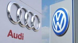 Logotipos de Audi y Volkswagen, marcas del Grupo Volkswagen