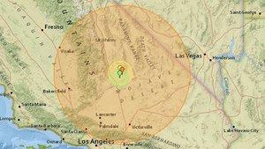 Mapa con la zona afectada por el terremoto declarado este jueves en el sur de California.