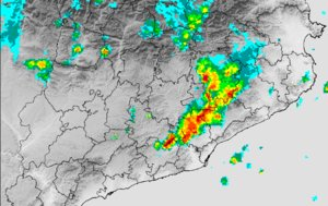 El mapa de precipitaciones del Meteocat.