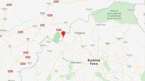 Mapa de la zona donde ha explotado un autobús en Burkina Fasso.