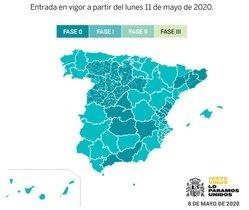 Mig Espanya passarà a la fase 1 de la desescalada dilluns, 11 de maig