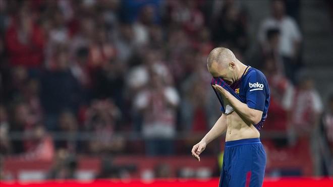 Iniesta, en la final de la Copa del Rey.
