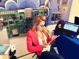 Imagen de archivo de la periodista Viktoria Marinova en la redacción del medio para el que trabajaba.