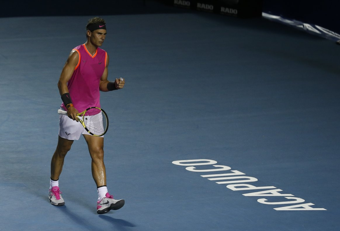 Nadal ganó Acapulco en el 2005 y regresó ocho años después para triunfar en la final del 2013.