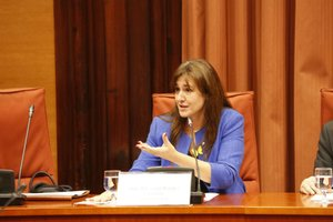 Laura Borràs, durante la comparecencia en la comisión de Cultura del Parlament.
