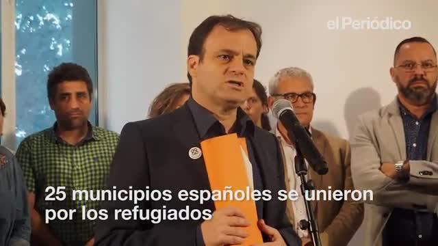 25 municipios españoles firmaron un manifiesto exigiéndole al Gobierno cumplir sus compromisos icon la crisis migratoria.