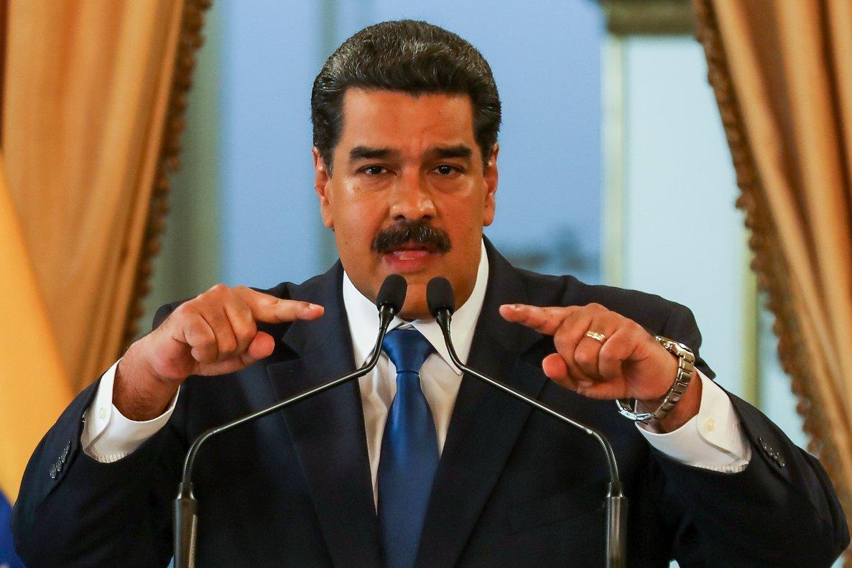 Nicolás Maduro, en una conferencia en el palacio de Miraflores, en Caracas, este viernes.