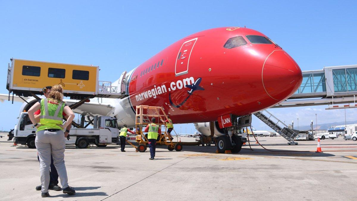 Vuelo inaugural de Norwegian entre Barcelona y Chicago.